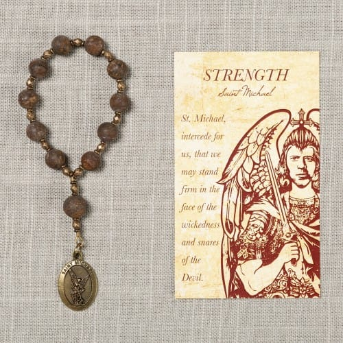 St. Michael Strength Decade Rosary & Card