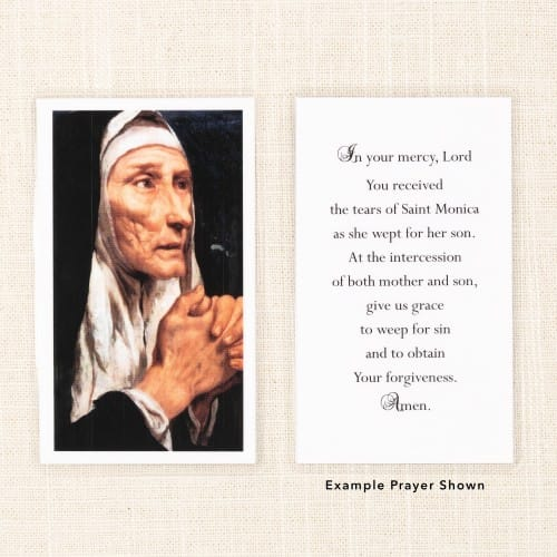 St. Monica Painting Personalized Prayer Cards