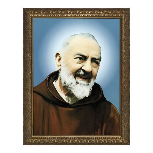 St. Padre Pio w/ Gold Frame