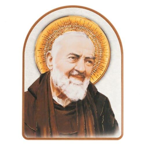 f002bde0e8e St. Padre Pio Wood Arch Plaque | The Catholic Company