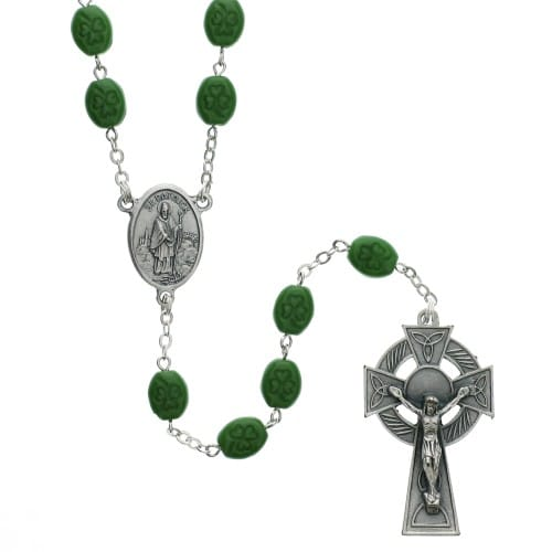 St. Patrick Silver-Plated Rosary