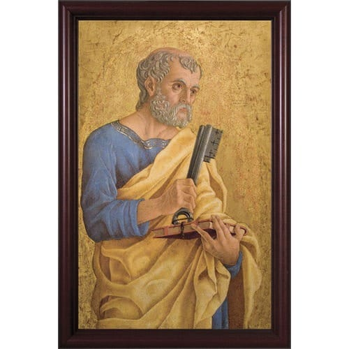 St. Peter with Keys w/ Cherry Frame