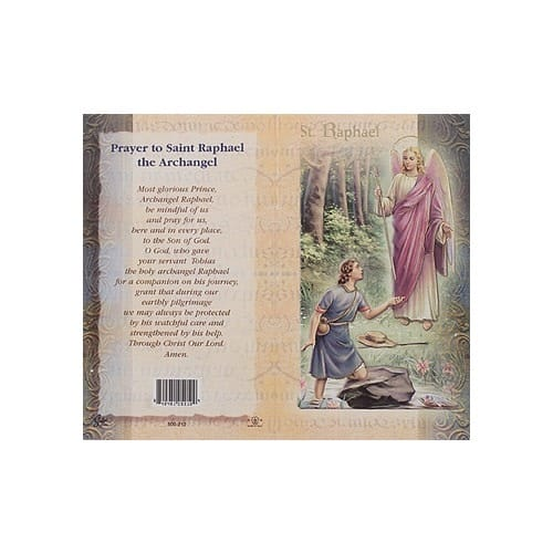 St. Raphael (Archangel) - Mini Lives of the Saints Folded Prayer Card
