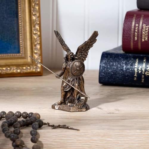 St. Raphael Archangel Veronese Statue, Bronzed 4 Inch