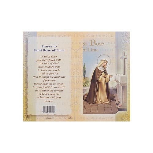 St. Rose of Lima - Mini Lives of the Saints Folded Prayer Card