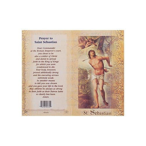 St. Sebastian - Mini Lives of the Saints Folded Prayer Card