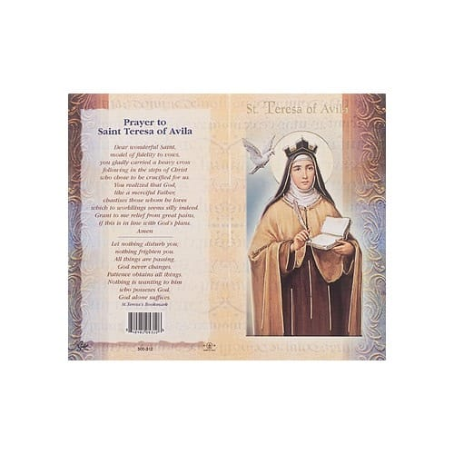 St. Teresa of Avila - Mini Lives of the Saints Folded Prayer Card