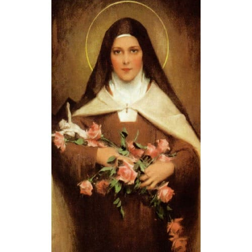 St. Theresa of Lisieux Personalized Prayer Card (Priced Per Card)