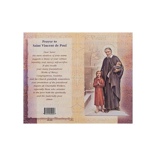 St. Vincent de Paul - Mini Lives of the Saints Folded Prayer Card