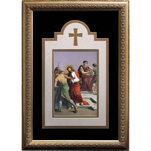 Stations of the Cross Framed Prints Set