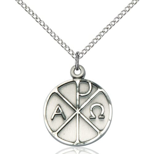 Sterling silver alpha omega pendant the catholic company sterling silver alpha omega pendant mozeypictures Choice Image
