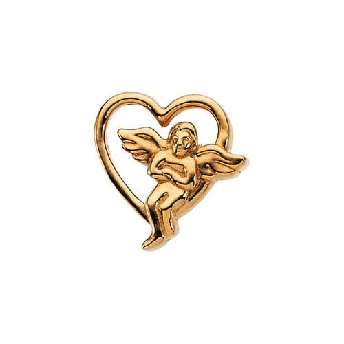 Sterling Silver Angel Lapel Pin 09X09