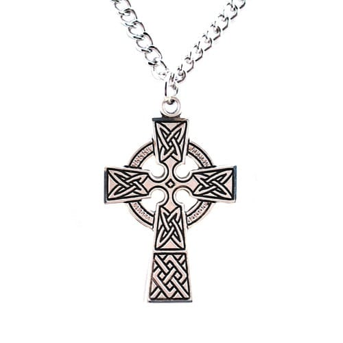 Sterling Silver Celtic Cross w/ 24 inch chain