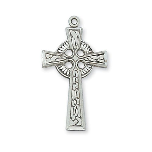 Sterling Silver Celtic Cross w/18 inch Chain
