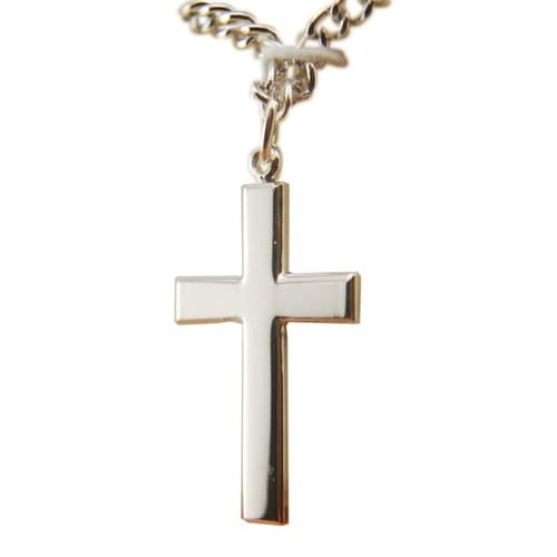 Sterling Silver Cross on 24 inch chain