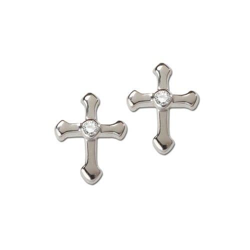 Sterling Silver Cross Earrings
