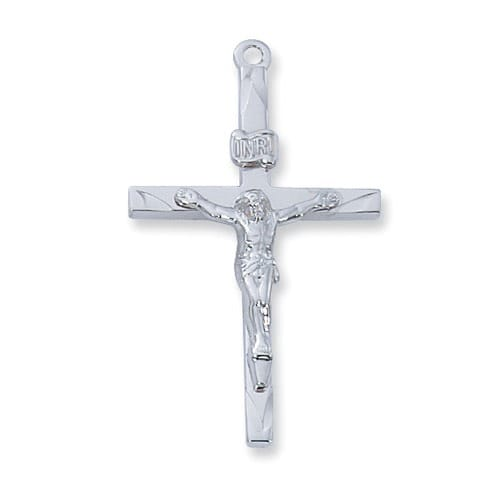 Sterling silver crucifix pendant the catholic company sterling silver crucifix pendant aloadofball Images