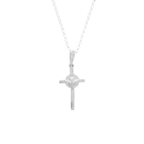 Sterling Silver Dove & Cross Pendant