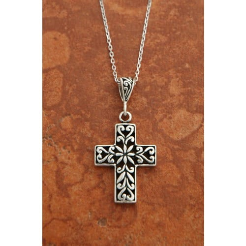 Sterling silver filigree cross necklace the catholic company sterling silver filigree cross necklace aloadofball Image collections