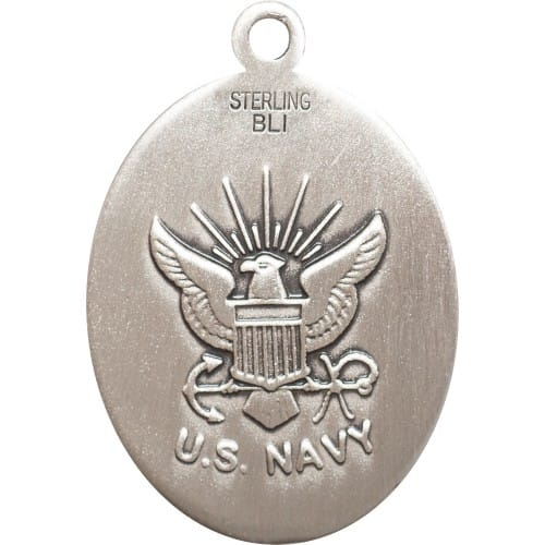 Sterling silver guardian angel navy pendant the catholic company sterling silver guardian angel navy pendant mozeypictures Images