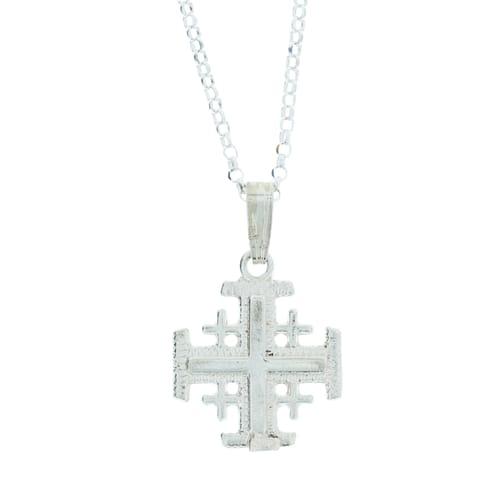 Sterling Silver Jerusalem Cross Necklace The Catholic