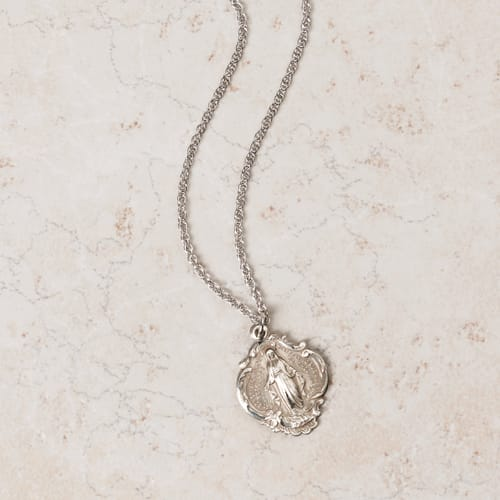 Sterling Silver Large Baroque Miraculous Medal