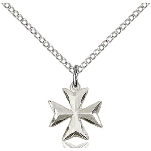 Sterling silver maltese cross pendant the catholic company sterling silver maltese cross pendant aloadofball Images