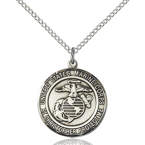 Sterling silver marinesst christopher pendant the catholic company sterling silver marinesst christopher pendant aloadofball Choice Image