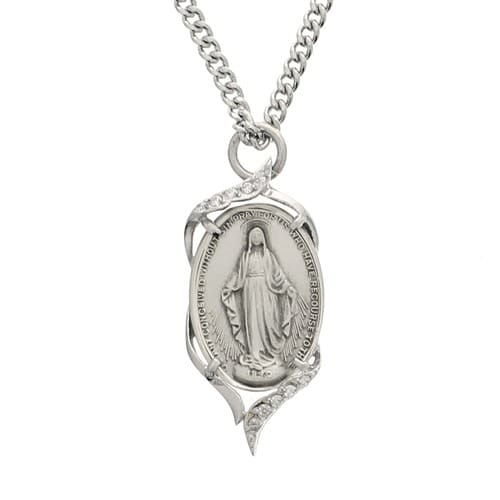 Sterling Silver Miraculous Medal Necklace The Catholic