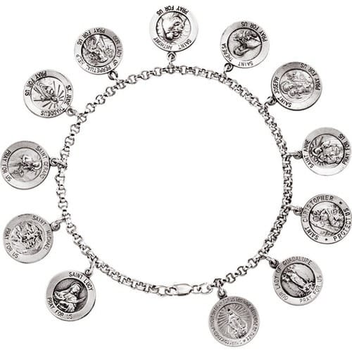 Sterling Silver Saints Bracelet