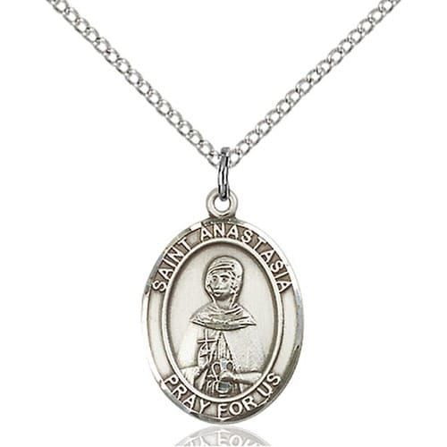 Sterling Silver St. Anastasia Pendant w/ Chain
