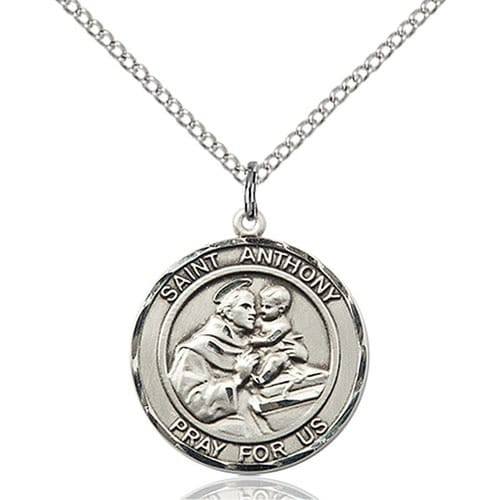 Sterling silver st anthony pendant the catholic company sterling silver st anthony pendant aloadofball Choice Image