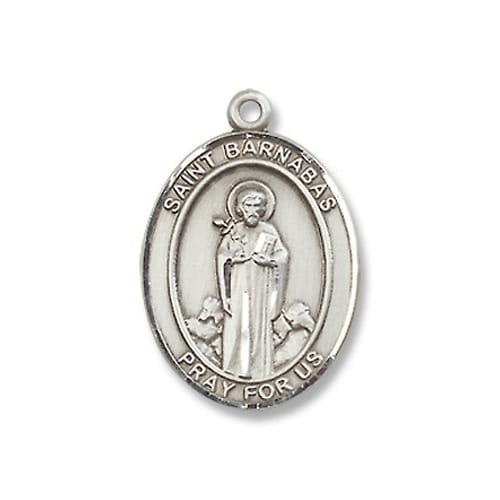 Sterling Silver St. Barnabas Pendant w/ Chain