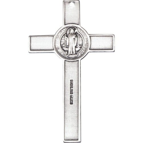 Sterling silver st benedict crucifix pendant the catholic company sterling silver st benedict crucifix pendant aloadofball Images