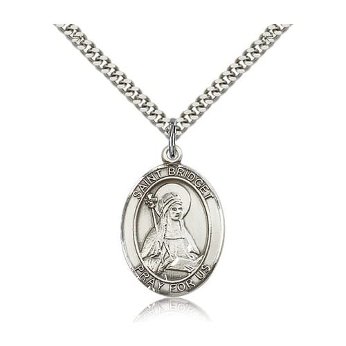 Sterling Silver St. Bridget of Sweden Pendant w/ chain