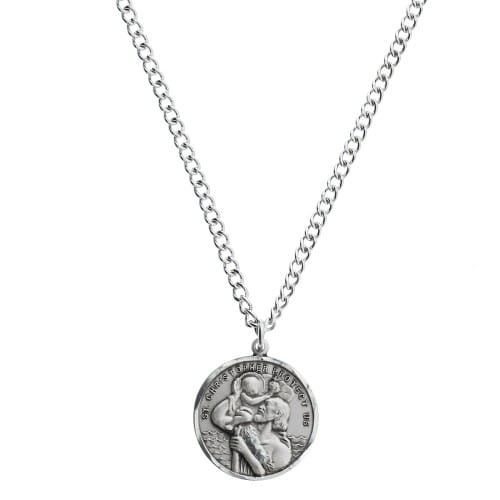 c9cb87229ef Sterling Silver St. Christopher Medal, 24 inch chain | The Catholic Company