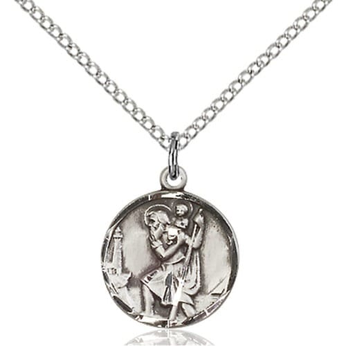 Sterling Silver St Christopher Pendant The Catholic Company