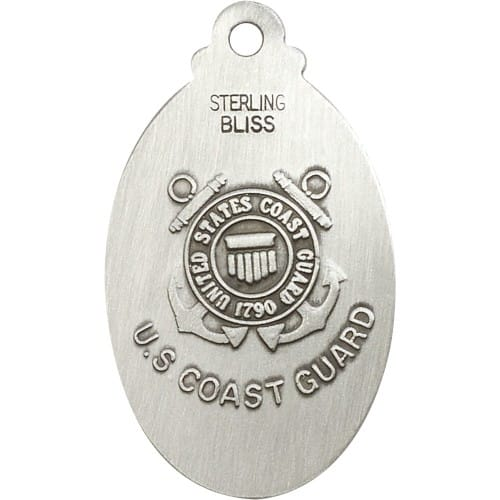 Sterling Silver St. Christopher Pendant / Coast Guard