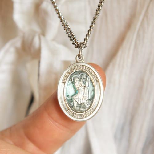 2da2b9172d3 Sterling Silver St. Christopher Pendant w/ chain | The Catholic Company