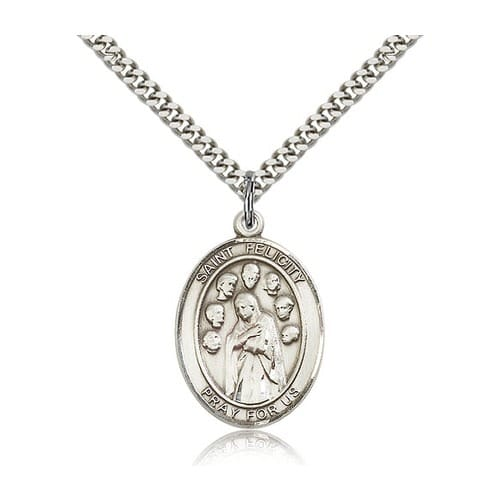 Sterling Silver St. Felicity Pendant w/ chain
