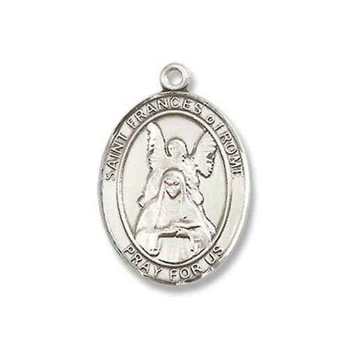 Sterling Silver St. Frances of Rome Pendant w/ Chain