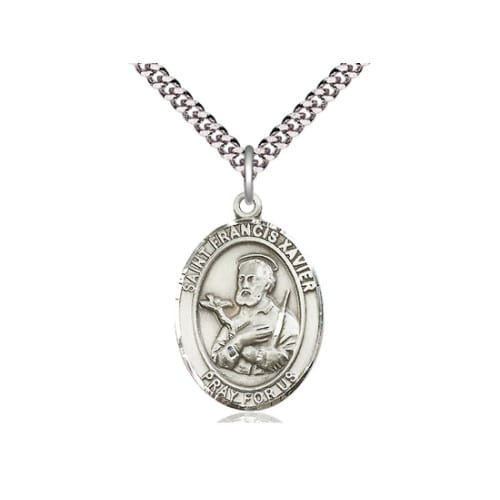 Sterling Silver St. Francis Xavier Pendant w/ chain