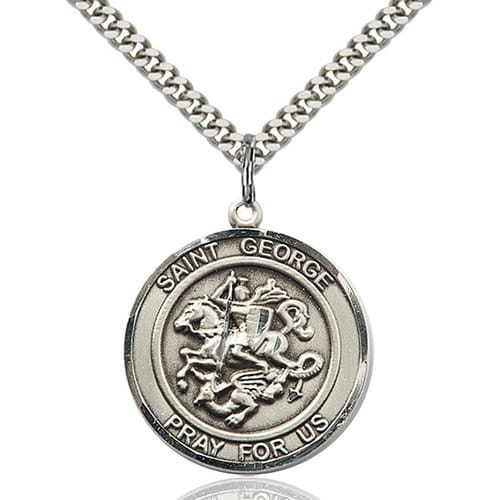Sterling Silver St. George Pendant