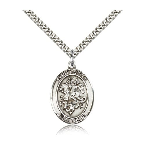 Sterling Silver St. George Pendant w/ chain