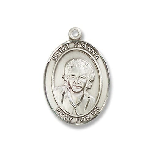 Sterling Silver St. Gianna Pendant w/ Chain