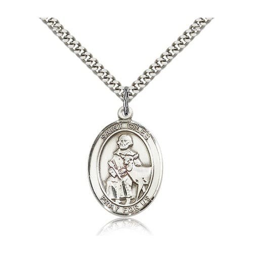 Sterling Silver St. Giles Pendant w/ chain