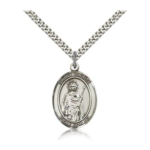 Sterling Silver St. Grace Pendant w/ chain
