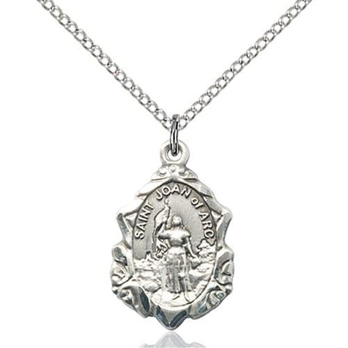 Sterling silver st joan of arc pendant the catholic company sterling silver st joan of arc pendant aloadofball Gallery