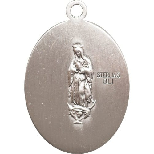 Sterling Silver St. Juan Diego Pendant w/ Chain
