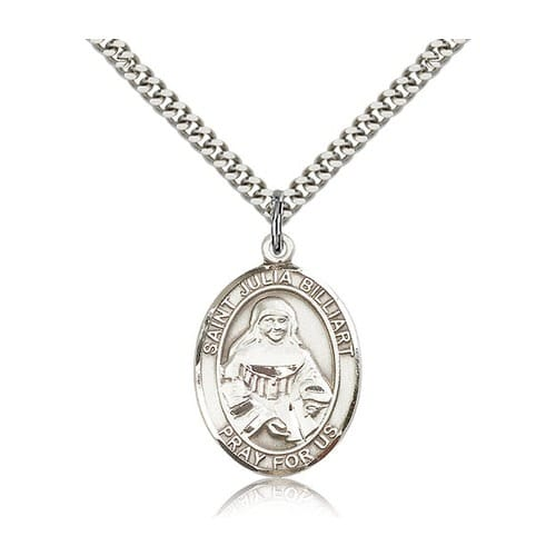 Sterling Silver St. Julia Billiart Pendant w/ chain